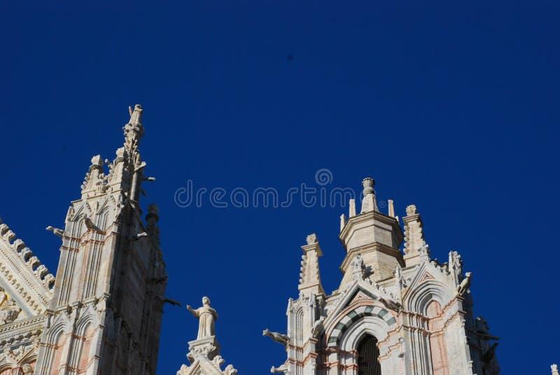 Собор Сиены, шпиль, ориентир ориентир, башня, святыня стоковая фотография rf