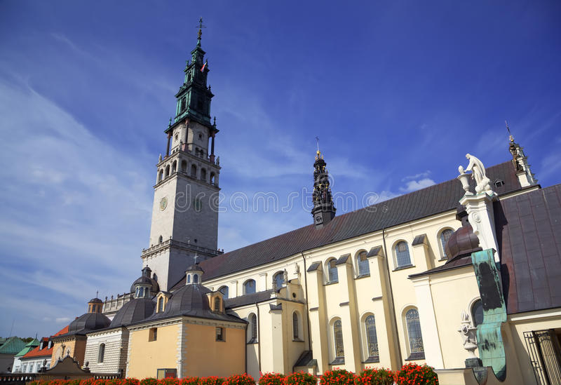Собор скита Jasna Gora. Czestochowa, Польша стоковое фото