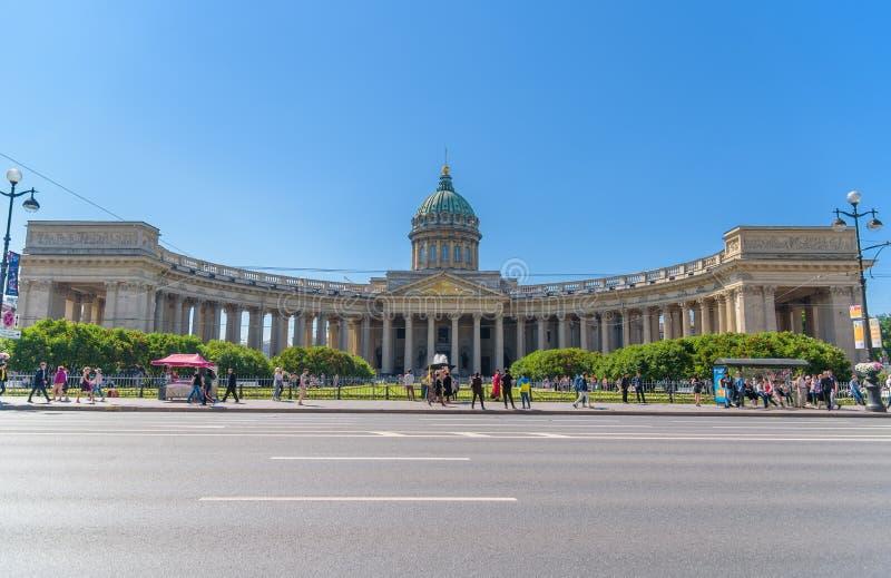 Собор собора Казани нашей дамы Казани Русское Orth стоковые фото