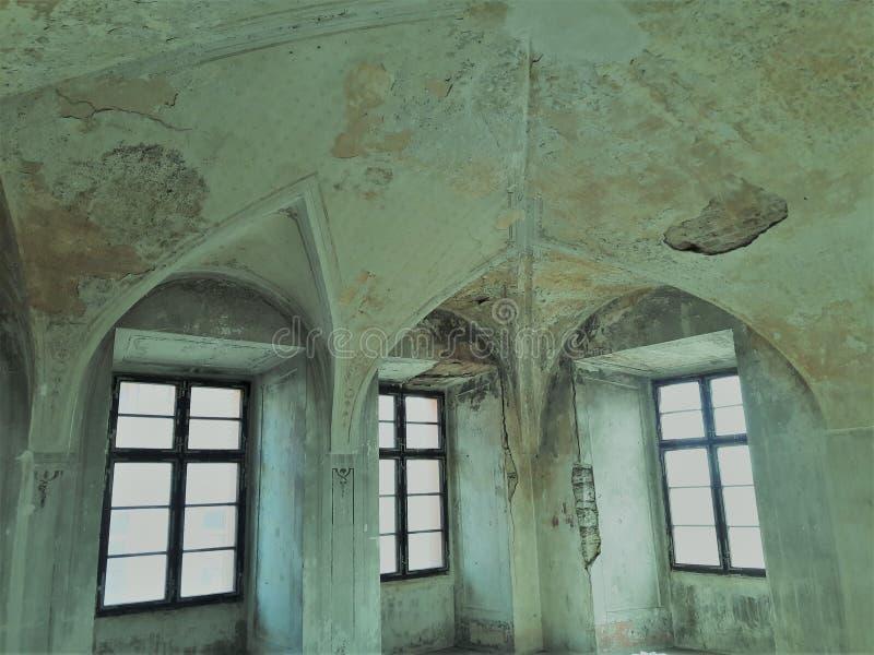 Собор туризма готический с сводом потолка в старой столице Праге стоковая фотография rf