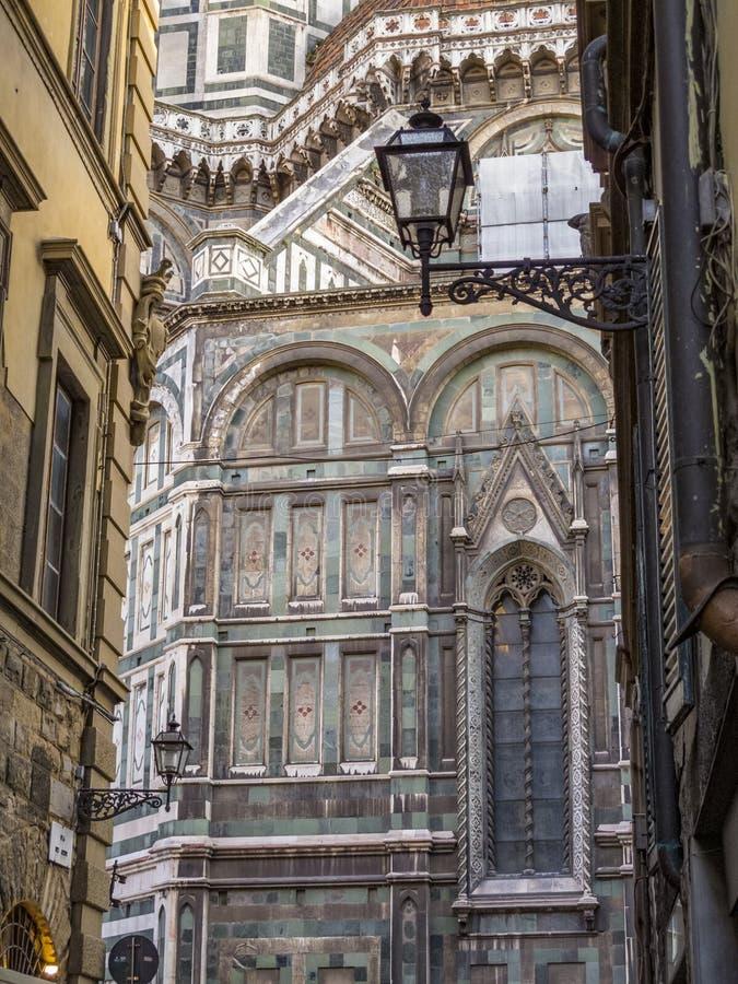 Собор Флоренс Santa Maria del Fiore, архитектурноакустической детали стоковая фотография