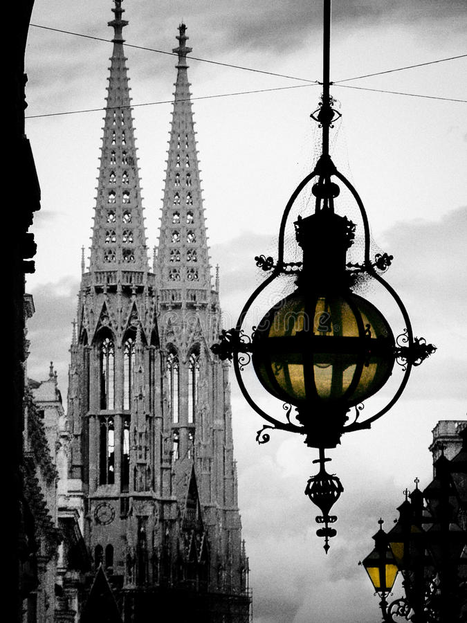 Собор фонарика и Стефана в вене, Австрии стоковые изображения rf