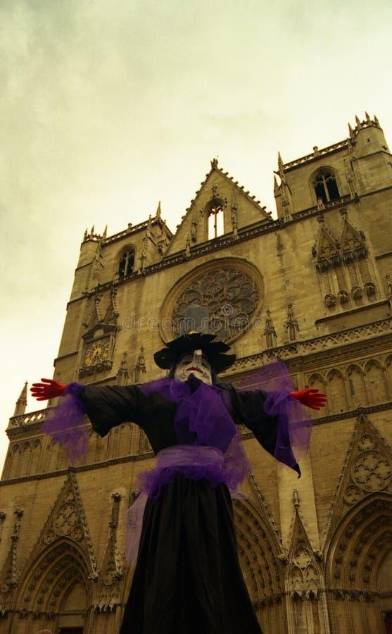 собор Франция lyon стоковое изображение
