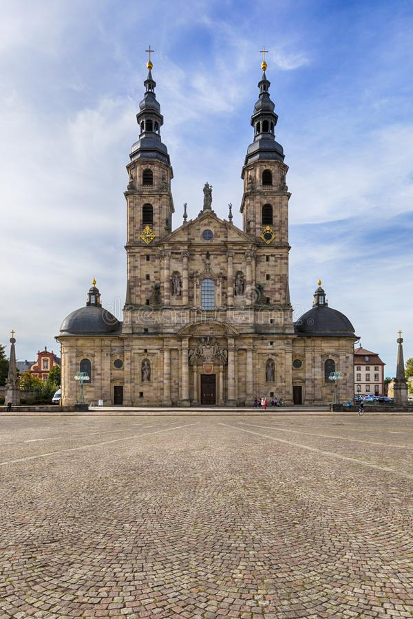 Собор Фульды на квадрате Domplatz стоковая фотография
