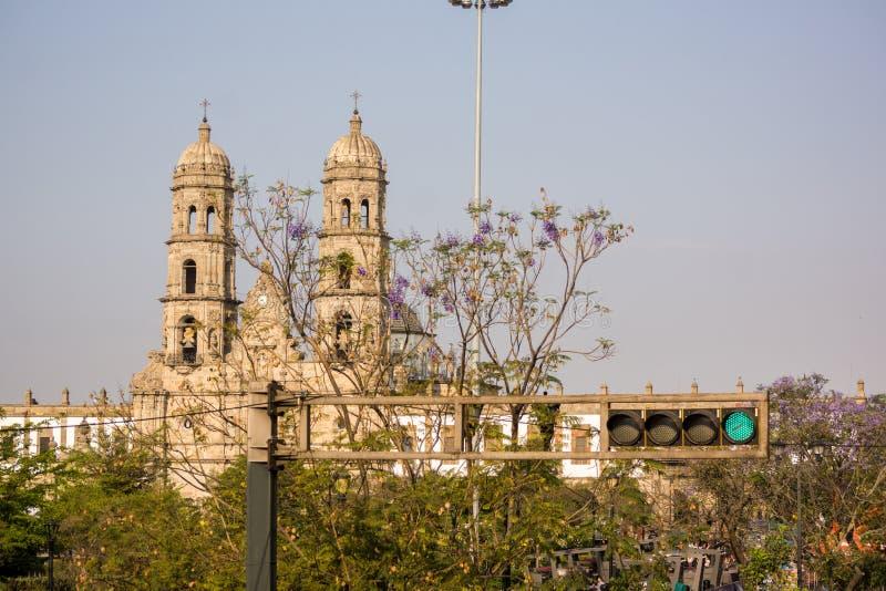 Собор Халиско Мексика Гвадалахары Zapopan Catedral стоковая фотография rf