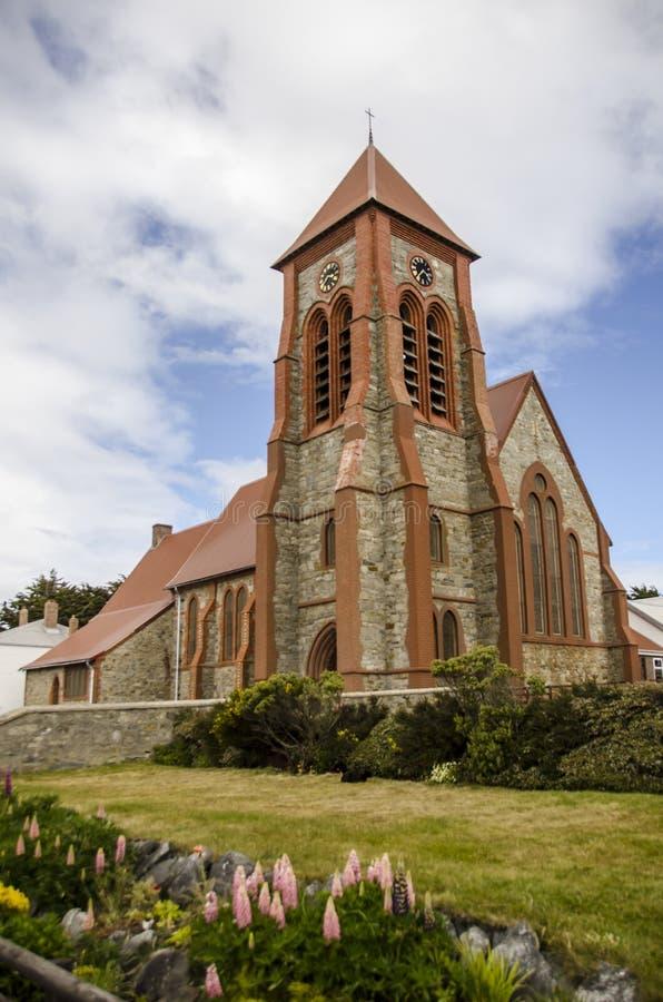 Собор церков Христоса (Фолклендские острова) стоковые фотографии rf