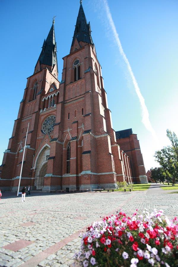 собор Швеция uppsala стоковые изображения