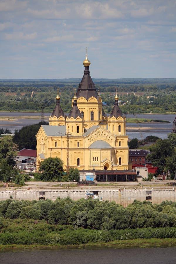 Собор Aleksandr Nevsky в Nizhny Novgorod стоковое фото