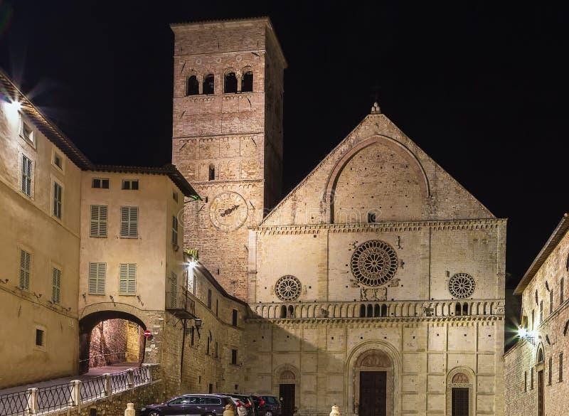 Собор Assisi, Италия стоковые фото