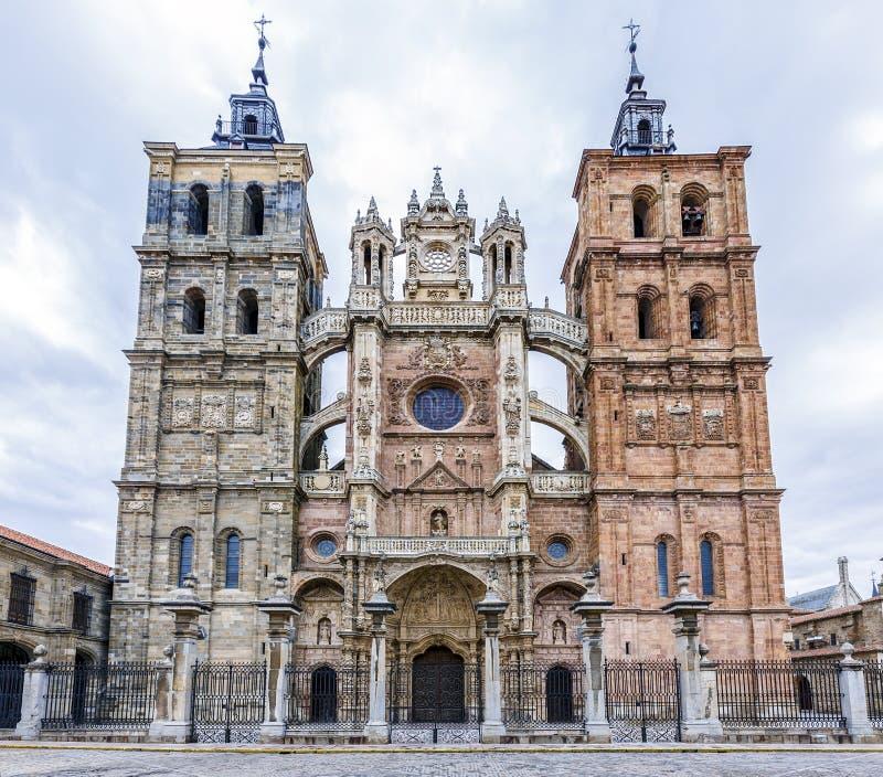 Собор Astorga Испании стоковая фотография rf