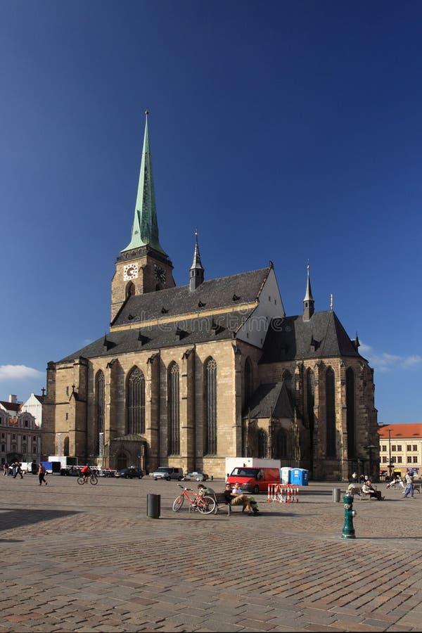 собор bartholomew pilsen святой стоковое фото rf