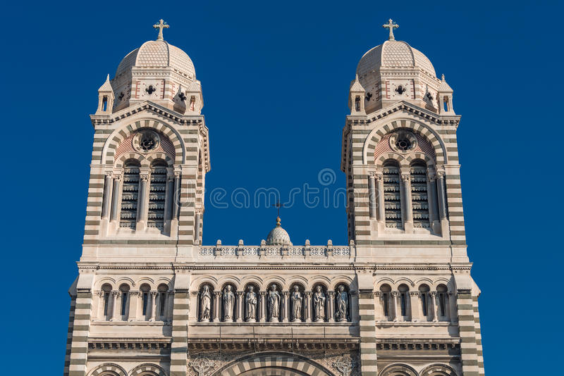 Собор de Ла Главн в марселе, Франции стоковые изображения rf