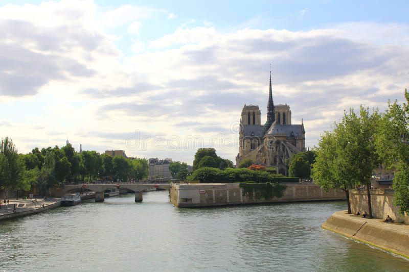 Собор de Париж Нотр-Дам, Франция стоковое изображение rf