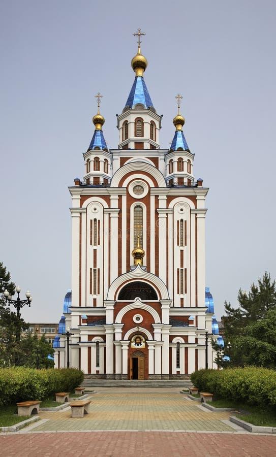 Собор Dormition в Хабаровск Россия стоковые фото