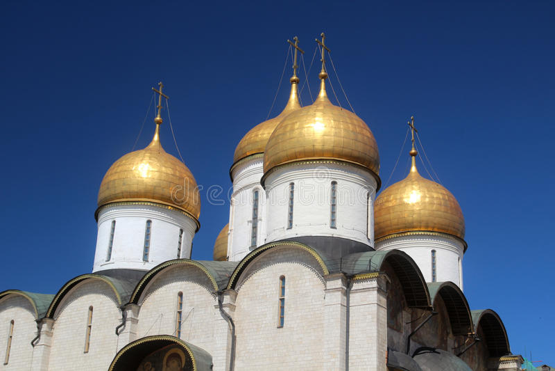 Собор Dormition, Кремля, Москвы стоковая фотография