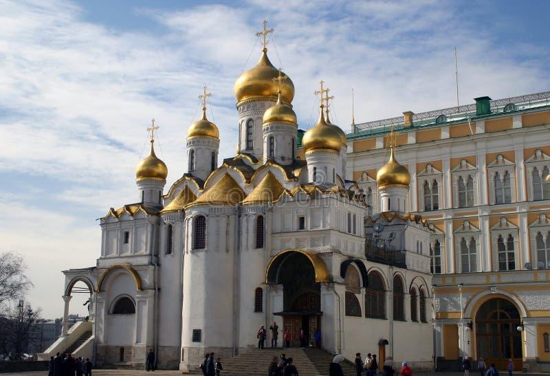 Собор Dormition, Москва стоковая фотография