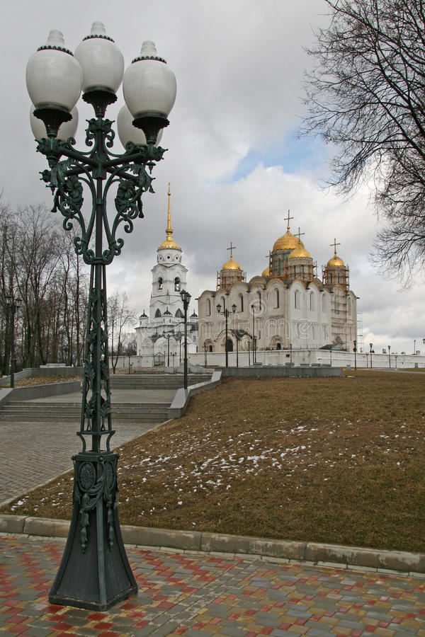 Собор Dormition (собор предположения) в Владимире, России стоковое фото rf