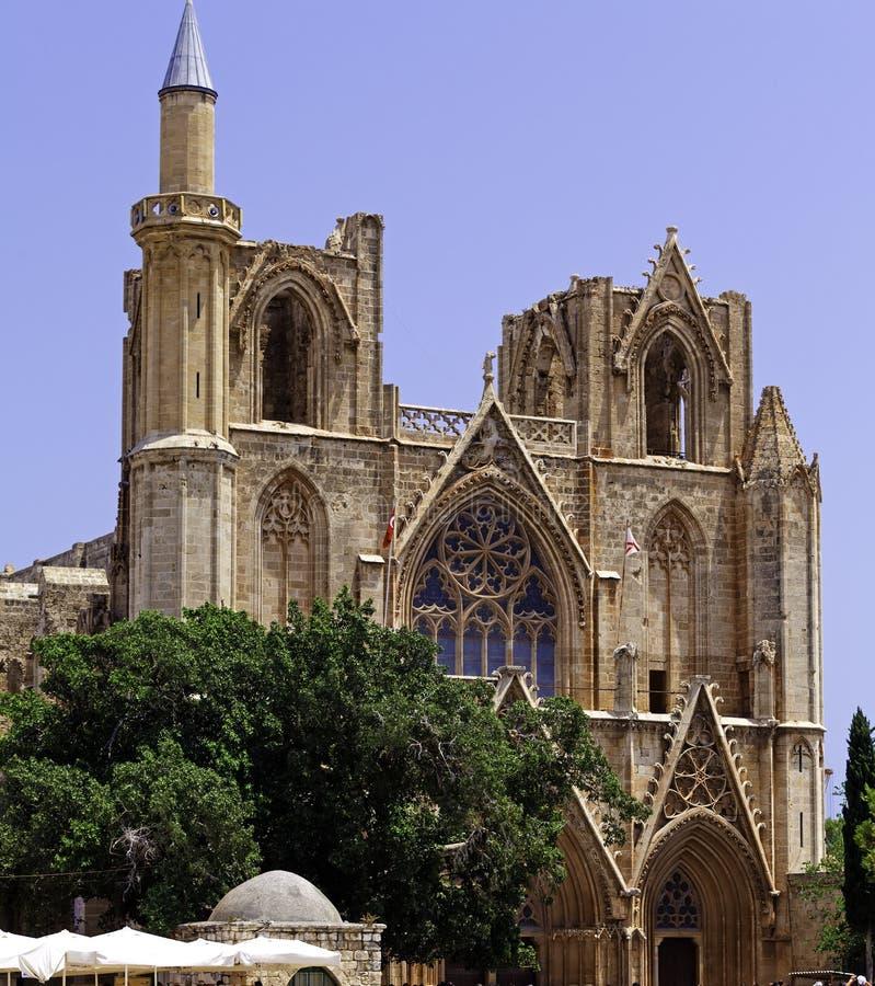 Собор Famagusta готский, северный Кипр стоковое изображение rf