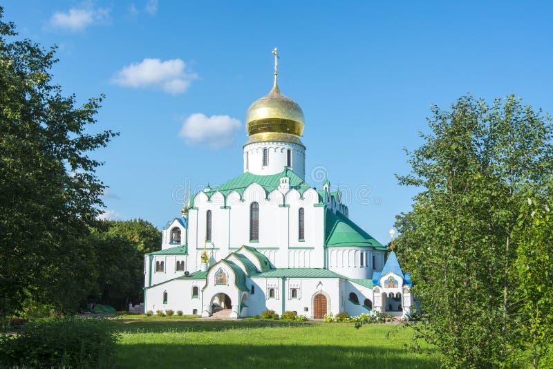 Собор Feodorovsky в Pushkin, Санкт-Петербурге, России стоковые фото
