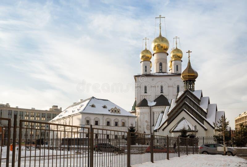 Собор Feodorovsky и часовня, Санкт-Петербург стоковые фотографии rf