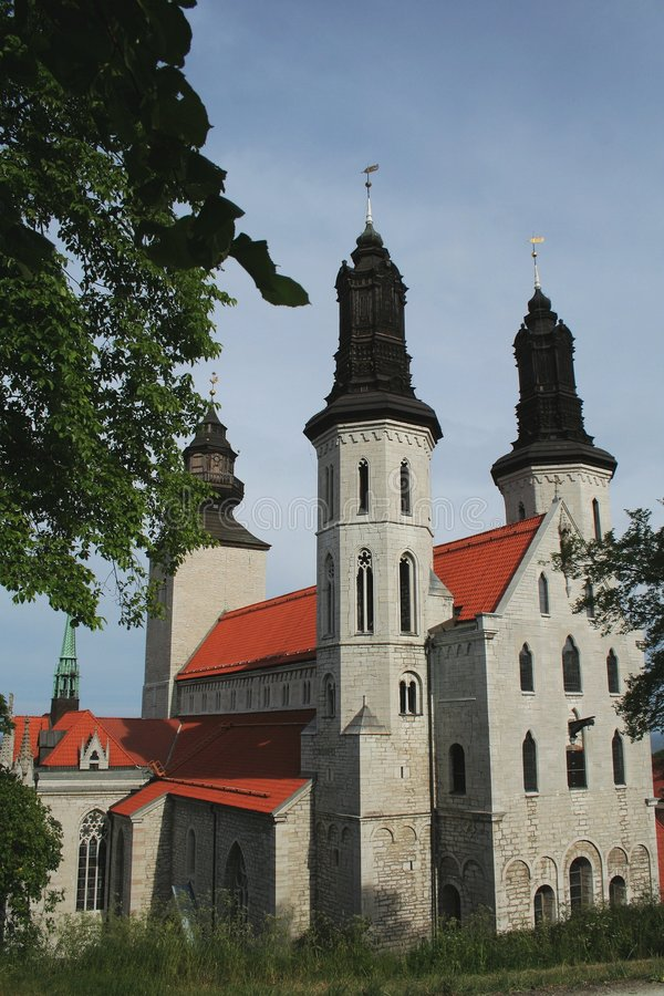 собор gotland visby стоковое фото