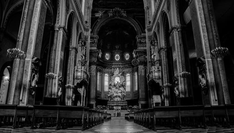 Собор i Неаполь стоковое изображение rf