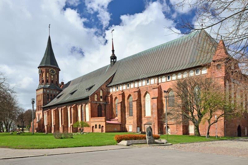 Собор Koenigsberg на острове Kneiphof Калининград, fo стоковые изображения
