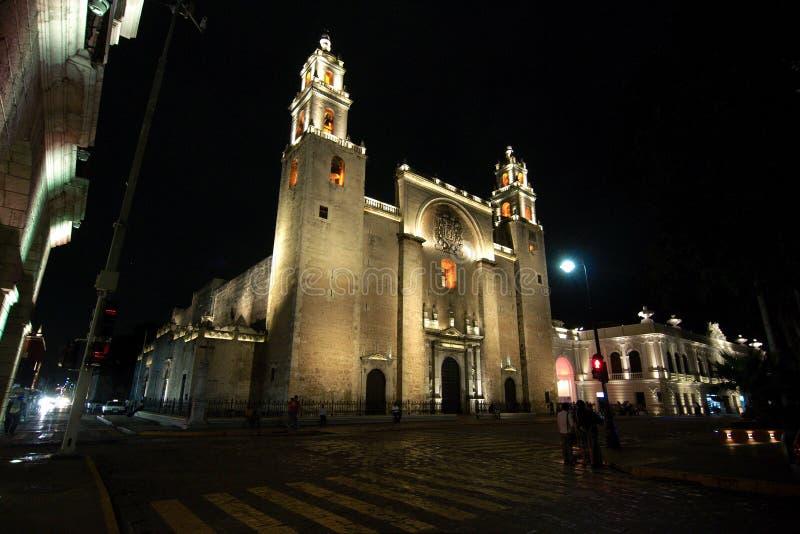 Собор Mérida, Юкатан, Мексики стоковые фото