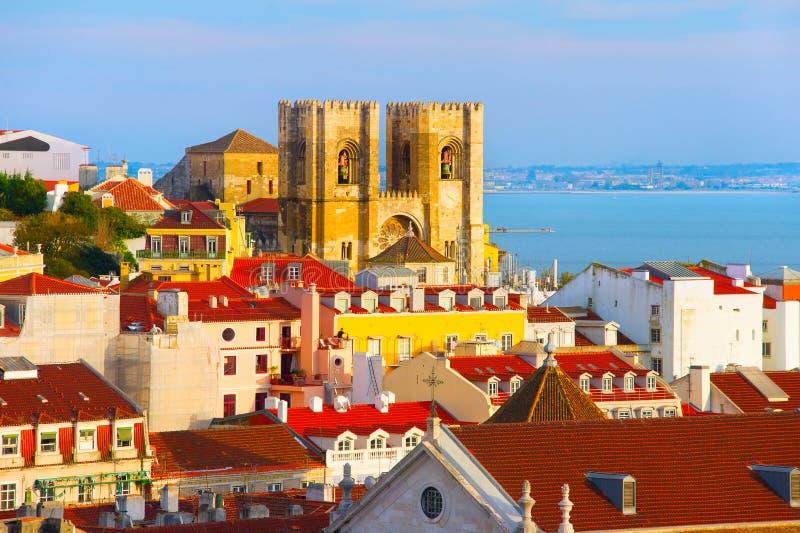 собор maria santa lisbon Португалия стоковое изображение