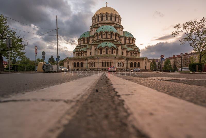 собор nevsky sofia Александра Болгарии стоковые изображения