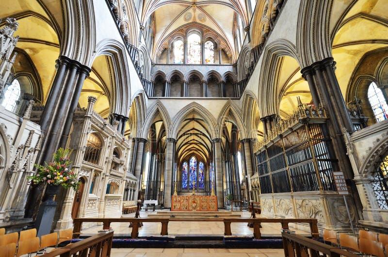 собор salisbury алтара стоковое изображение