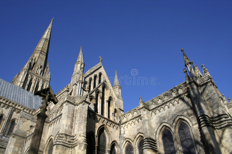 собор salisbury Уилтшир стоковое фото rf