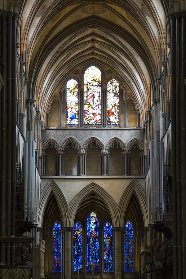 собор salisbury стоковые изображения