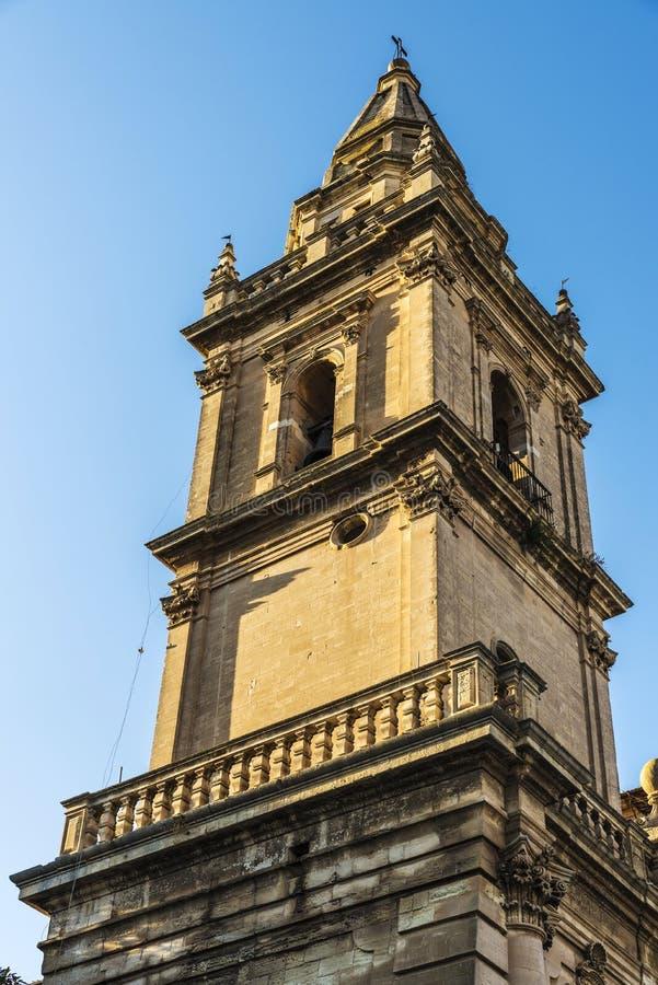 Собор San Giovanni Battista в Рагузе, Сицилии, Италии стоковое изображение rf