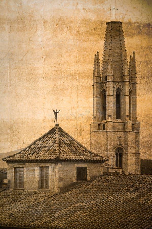 Собор Sant Feliu, Херона, Испания стоковое фото