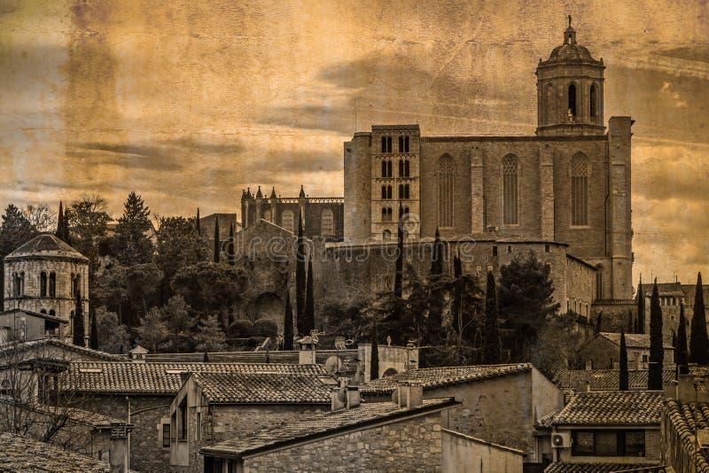 Собор Santa Maria Хероны, Испании стоковое фото