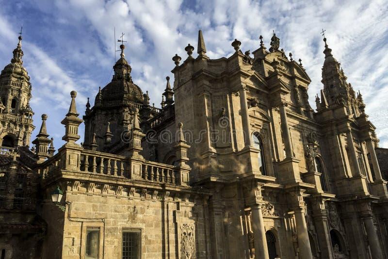 Собор Santiago de Compostela в Галиции, Испании стоковое фото rf