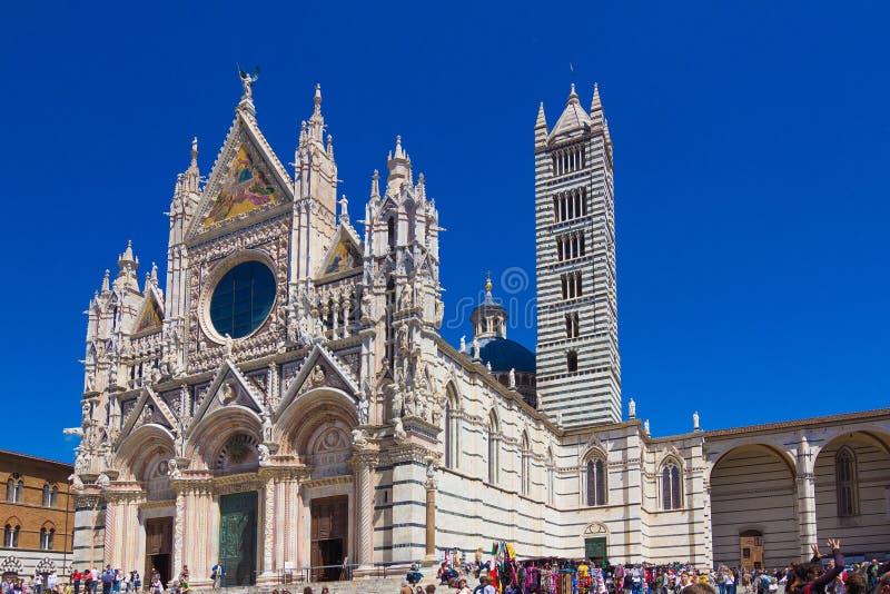 Собор Siena, Тоскана, Италия стоковые фотографии rf