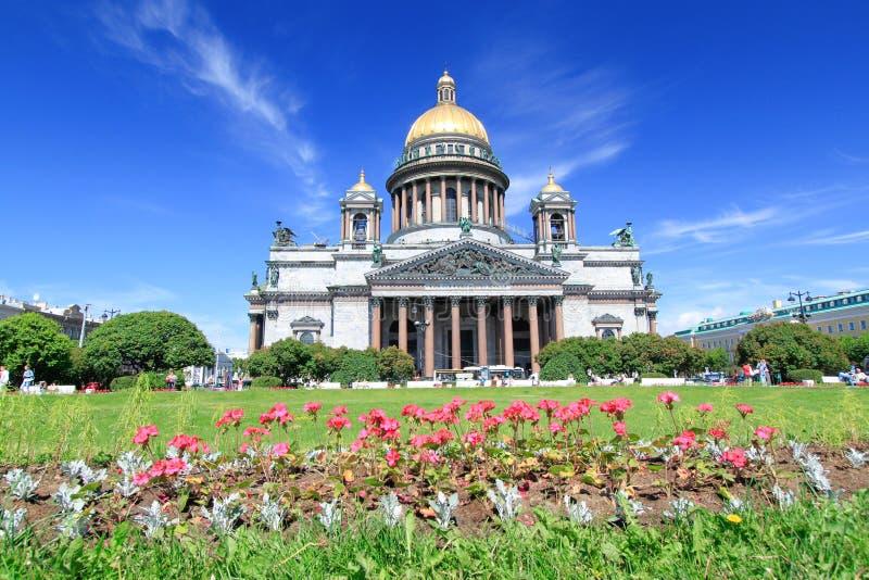 Собор St Исаак - Санкт-Петербург, Россия стоковое фото rf