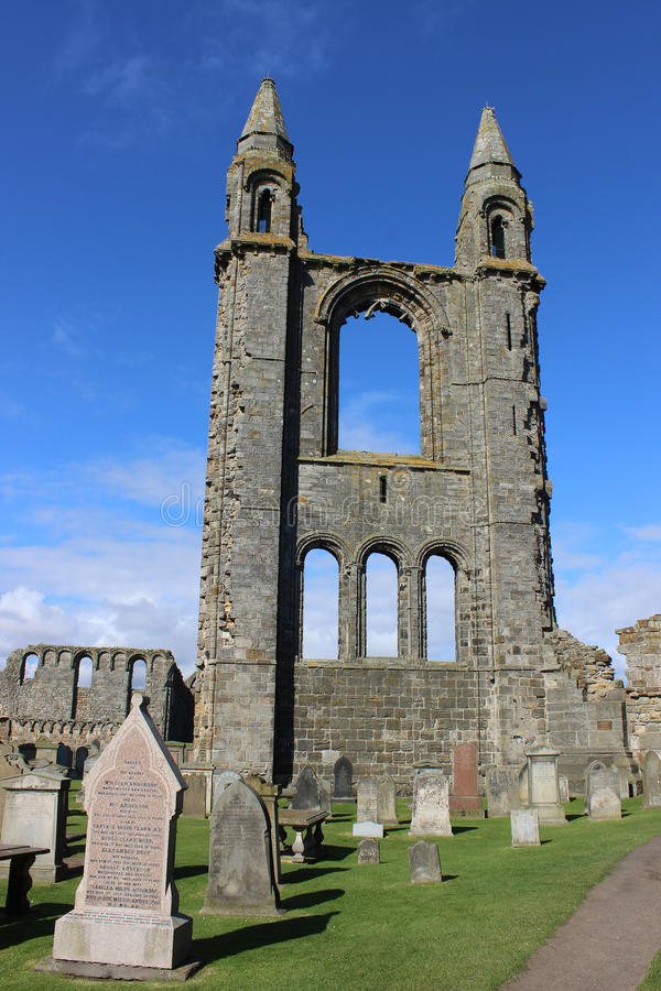 Собор St Andrew, Сент-Эндрюса, файфа, Шотландии стоковые фотографии rf