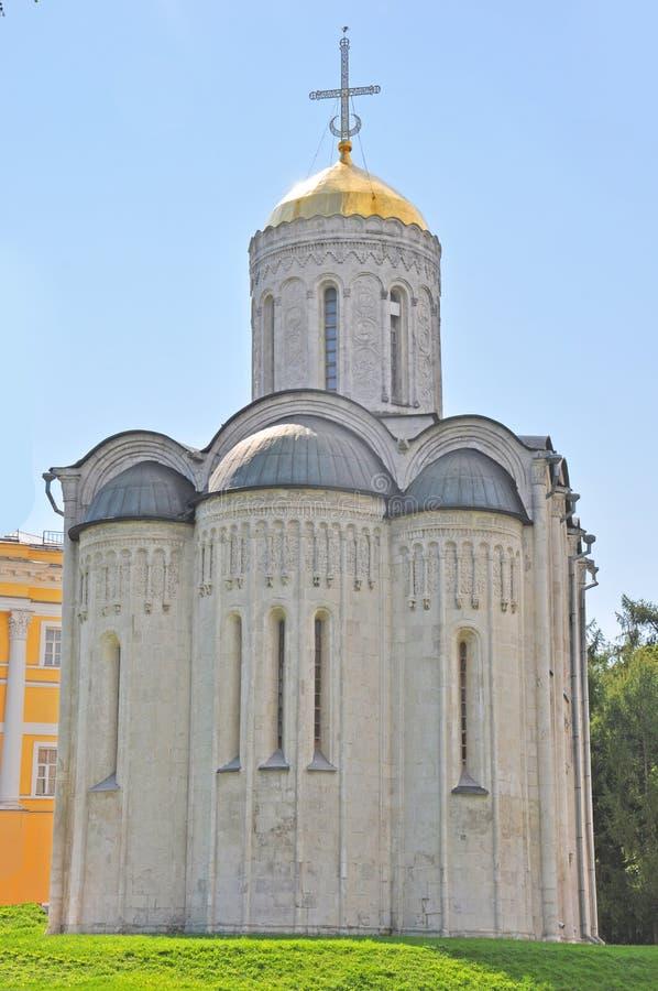 Собор St Demetrius в городе Владимира стоковое изображение rf