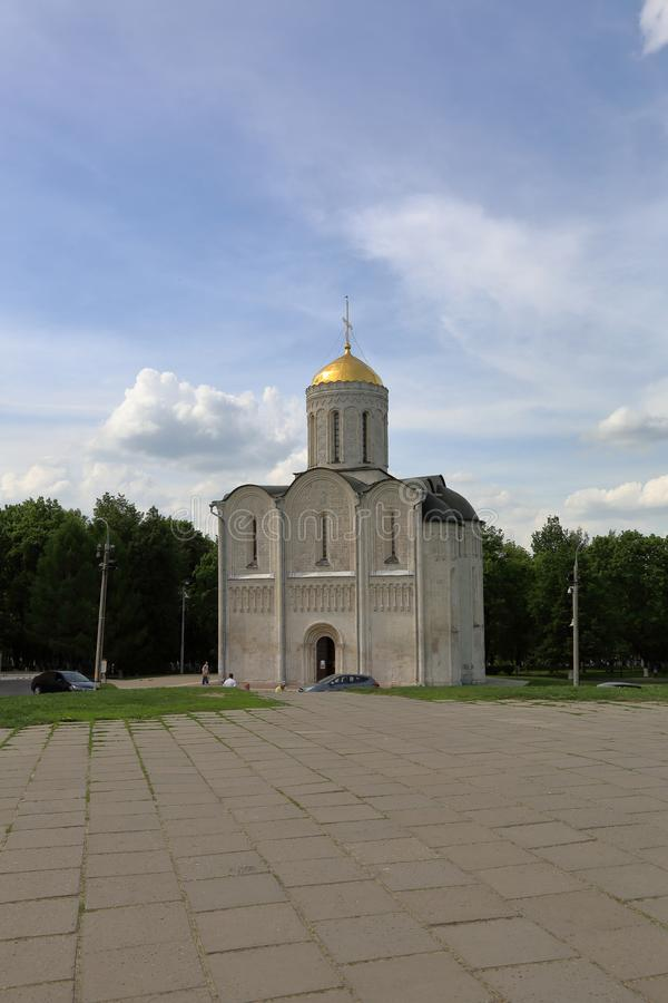 Собор St Demetrius двенадцатого века в Владимире, России стоковая фотография rf