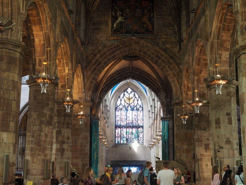 Собор St Giles в Эдинбурге стоковое фото rf