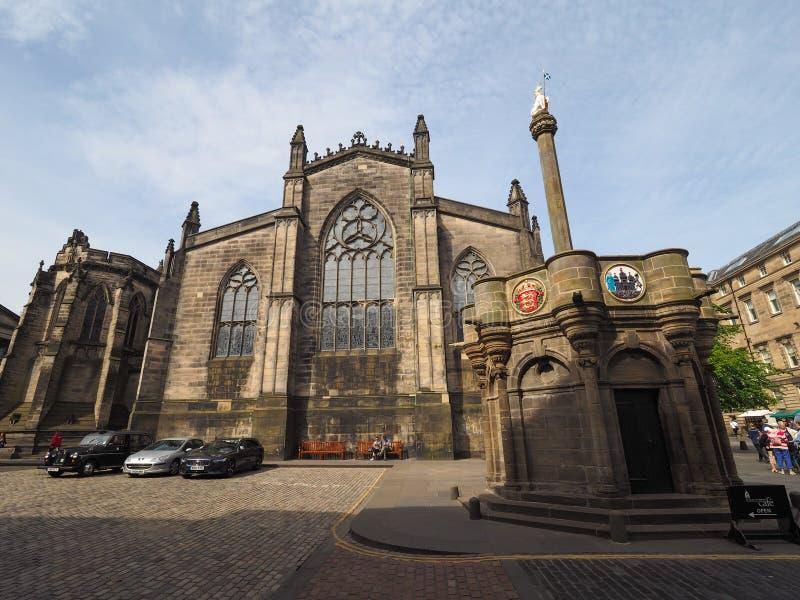 Собор St Giles в Эдинбурге стоковая фотография