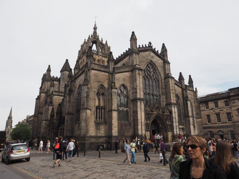 Собор St Giles в Эдинбурге стоковые изображения rf