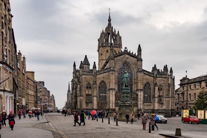 Собор St Giles, Эдинбург, Великобритания стоковые фотографии rf
