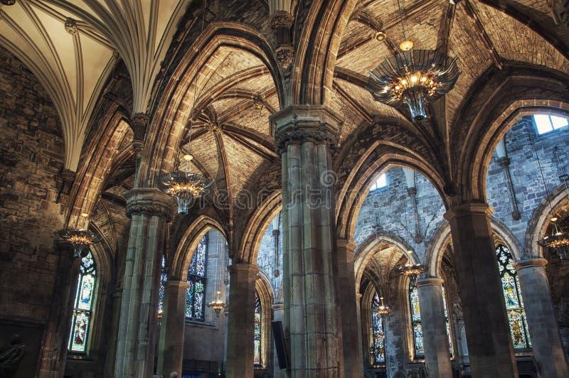 Собор St Giles Эдинбурга стоковая фотография rf