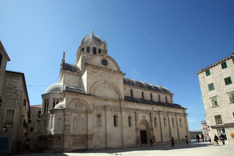 Собор St James в Sibenik стоковая фотография rf