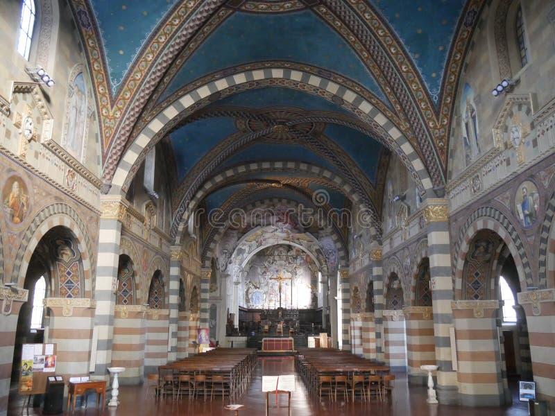 Собор St Mary в Bobbio стоковые фото