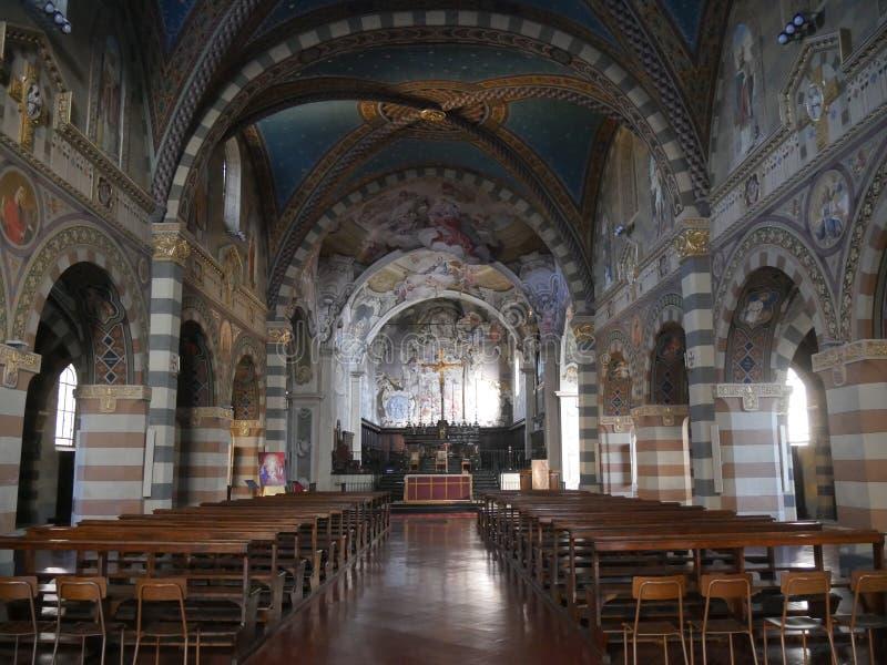 Собор St Mary в Bobbio стоковые изображения rf